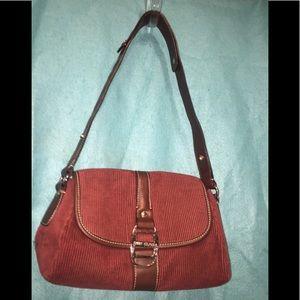 Tommy Hilfiger's Brick Red Corduroy Shoulder Bag